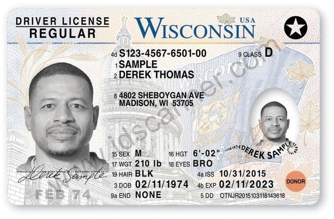 Wisconsin's new driver's license